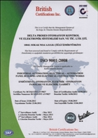 ISO 9001:2008 Quality Management System Certificate